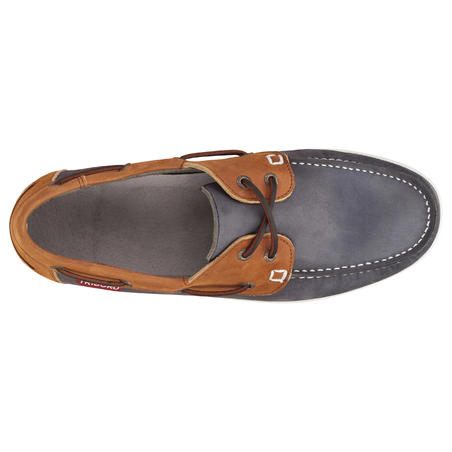 CR500 Men's Leather Boat Shoes - Blue/Brown