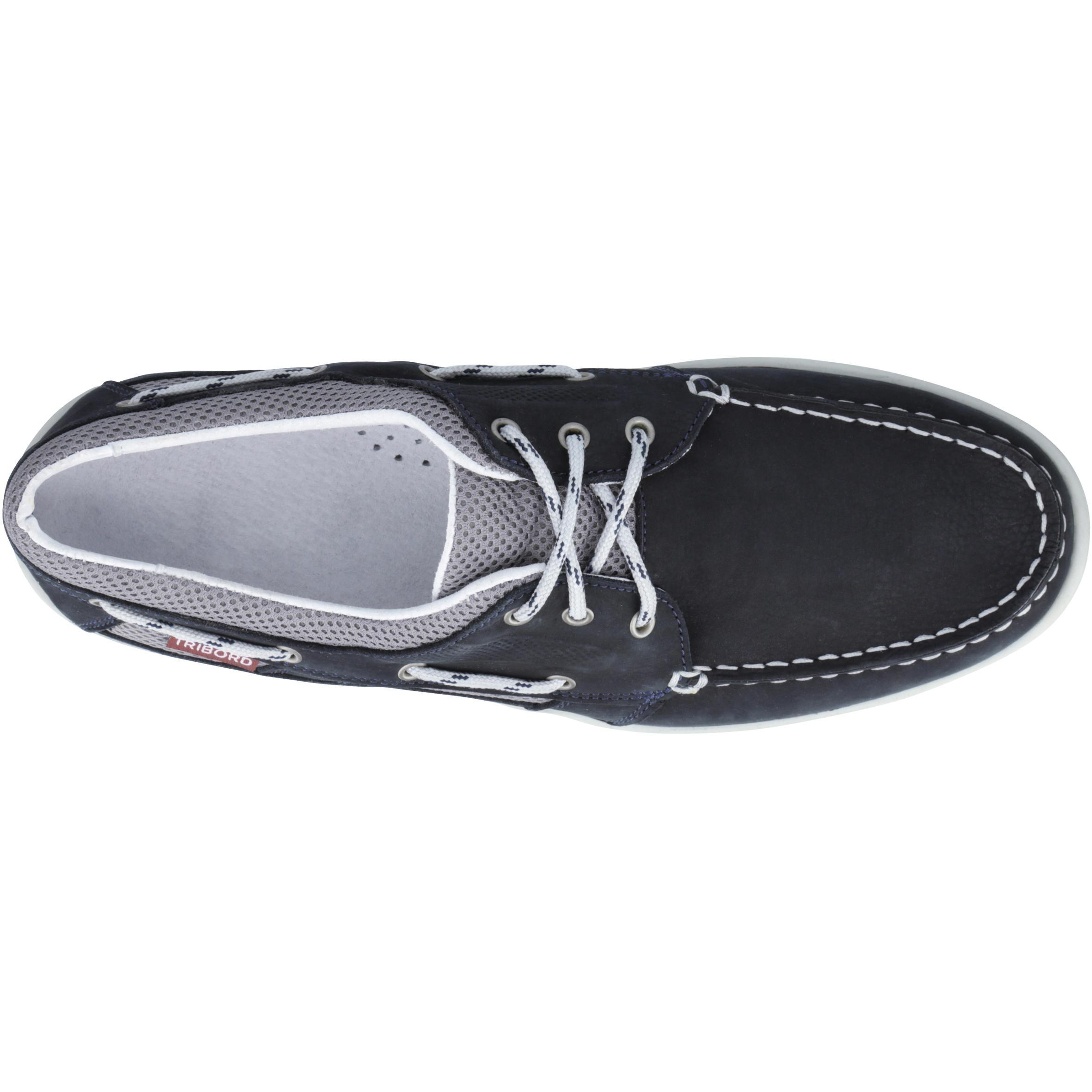 Chaussures bateau cuir homme CLIPPER bleu marine