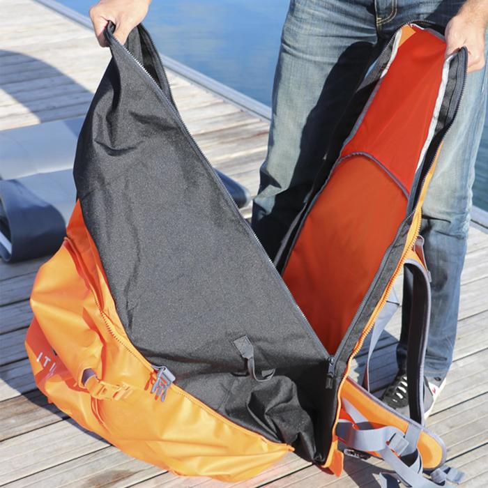 SUP-Rucksack Stand Up Paddle Touring 500 / 100+40L wasserdicht orange