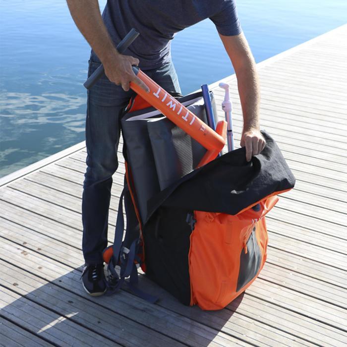 Waterdichte rugzak / Drybag voor SUP 500 / omvormbaar 100/40 liter oranje