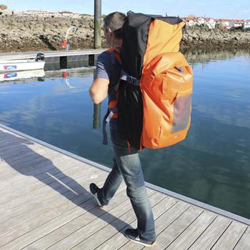 SUP-Rucksack 500 Stand Up Paddle Touring 100l/40l wasserdicht orange