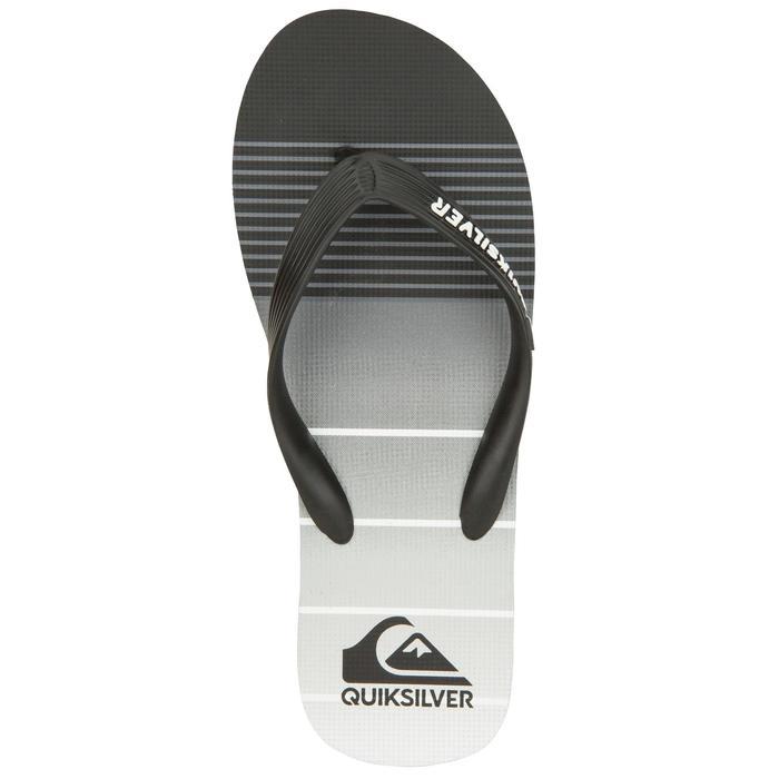 Tongs Quiksilver Division Noir gris - 1145454