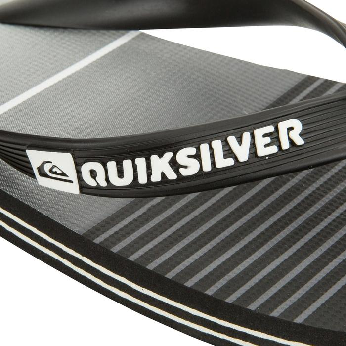 Teenslippers Quiksilver Division zwart grijs