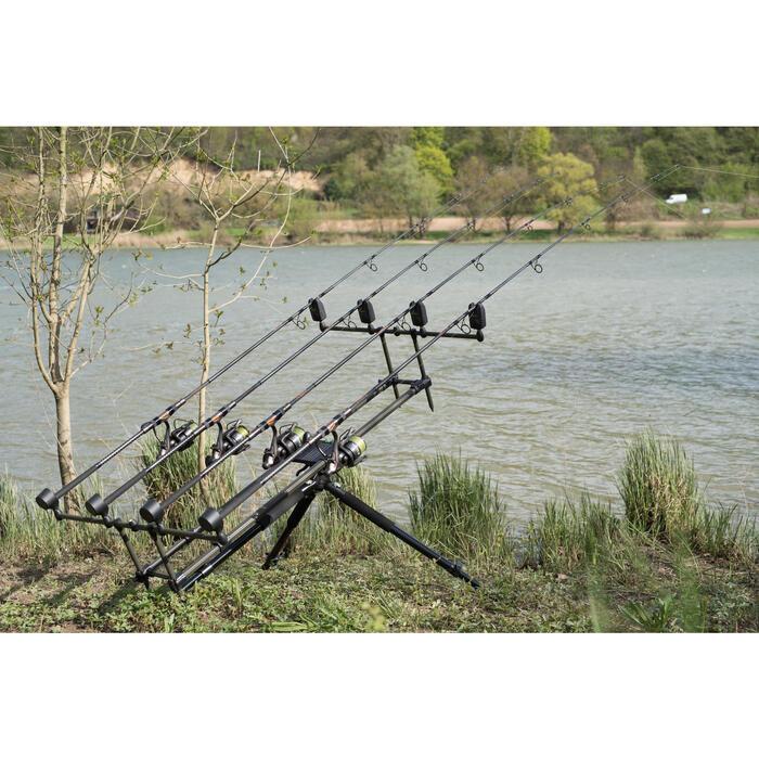 Soporte de cañas pesca de la carpa CONQUEST ROD POD 3/4 CAÑAS