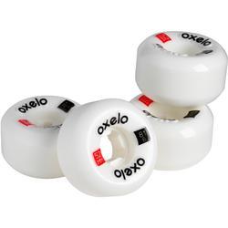 52 mm 101A Skateboard Wheels x 4 - White