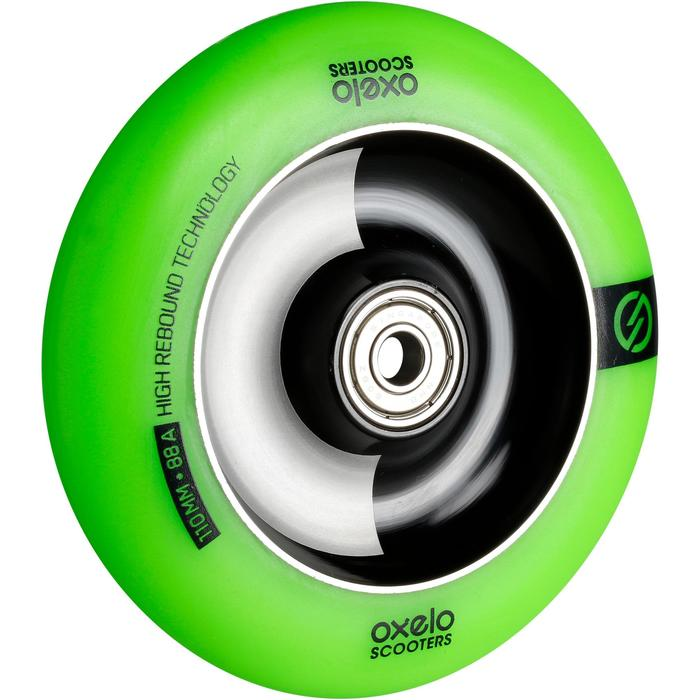RUEDA PATINETE FREESTYLE 110 mm VERDE