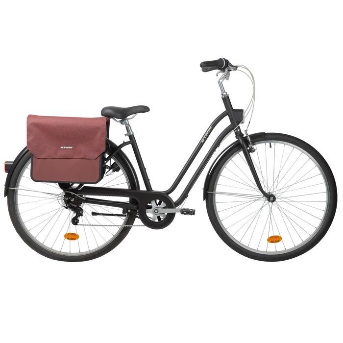 Doppel-Fahrradtasche 520 2×20 l bordeauxrot