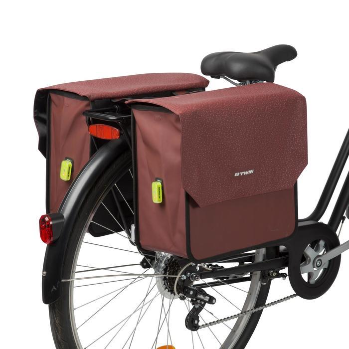 Dubbele fietstas 520 2 x 20 l bordeauxrood