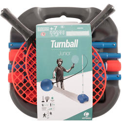 LOT DE SPEEDBALL (1 MAT, 2 RAQUETTES et 1 BALLE) TURNBALL GRIS/BLEU