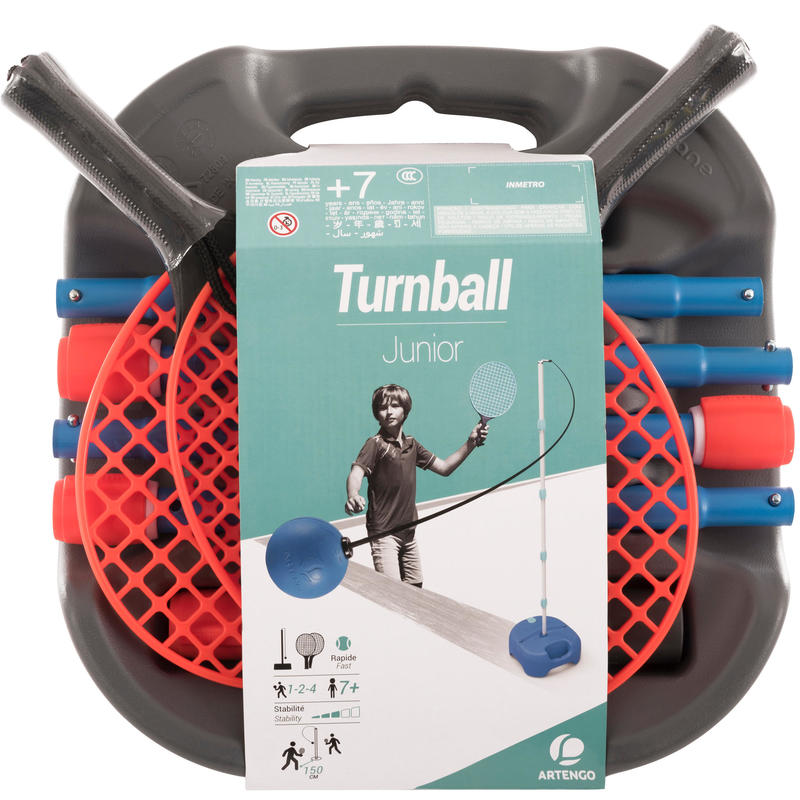 PACK DE SPEEDBALL (1 MAT, 2 RAQUETTES et 1 BALLE) _QUOTE_TURNBALL GRIS/BLEU_QUOTE_