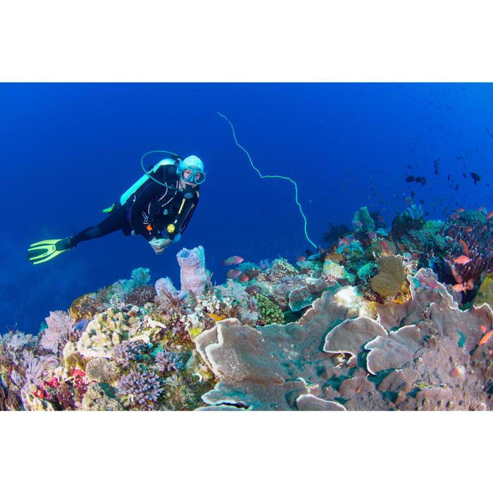 Masque de plongée sous-marine en bouteille SCD500 jupe bleue cerclage - 1146018