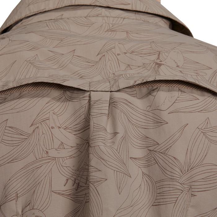 Chemise manches courtes trekking Arpenaz 500 femme beige imprimé - 1146069