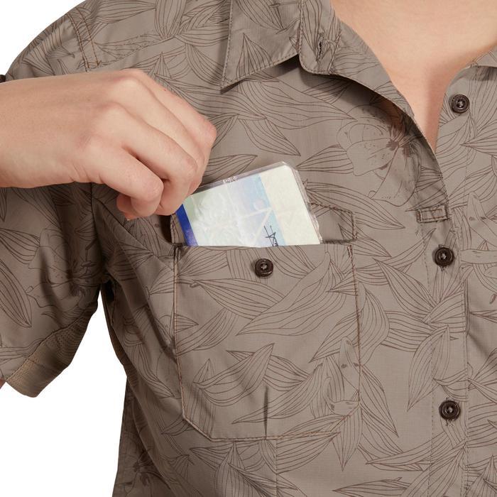Chemise manches courtes trekking Arpenaz 500 femme beige imprimé - 1146070