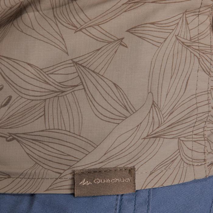 Chemise manches courtes trekking Arpenaz 500 femme beige imprimé - 1146110