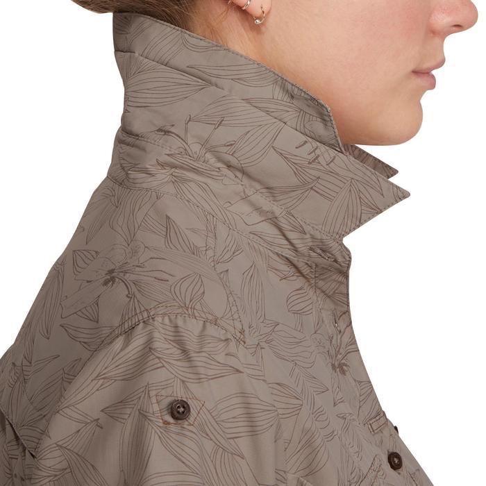 Chemise manches courtes trekking Arpenaz 500 femme beige imprimé - 1146126