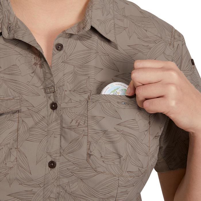 Chemise manches courtes trekking Arpenaz 500 femme beige imprimé - 1146132