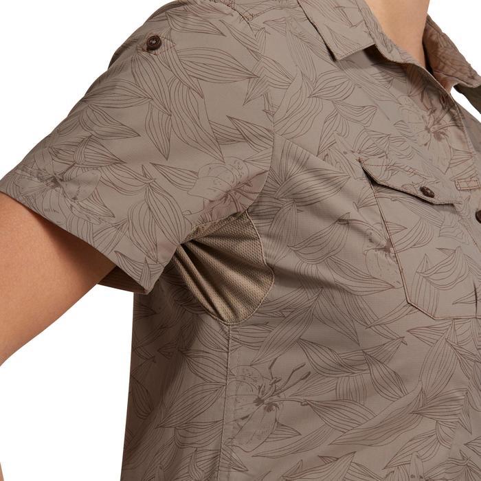Chemise manches courtes trekking Arpenaz 500 femme beige imprimé - 1146150
