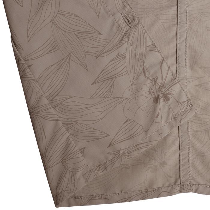 Chemise manches courtes trekking Arpenaz 500 femme beige imprimé - 1146186