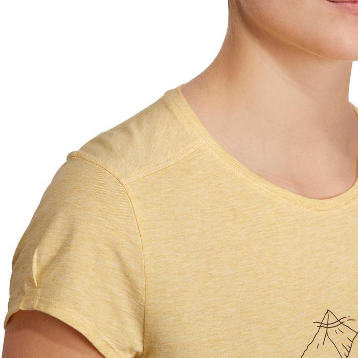 Camiseta senderismo en la naturaleza mujer NH500 amarillo