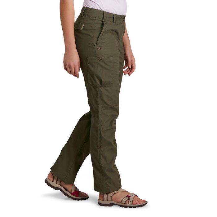 Pantalon TRAVEL 100 femme kaki
