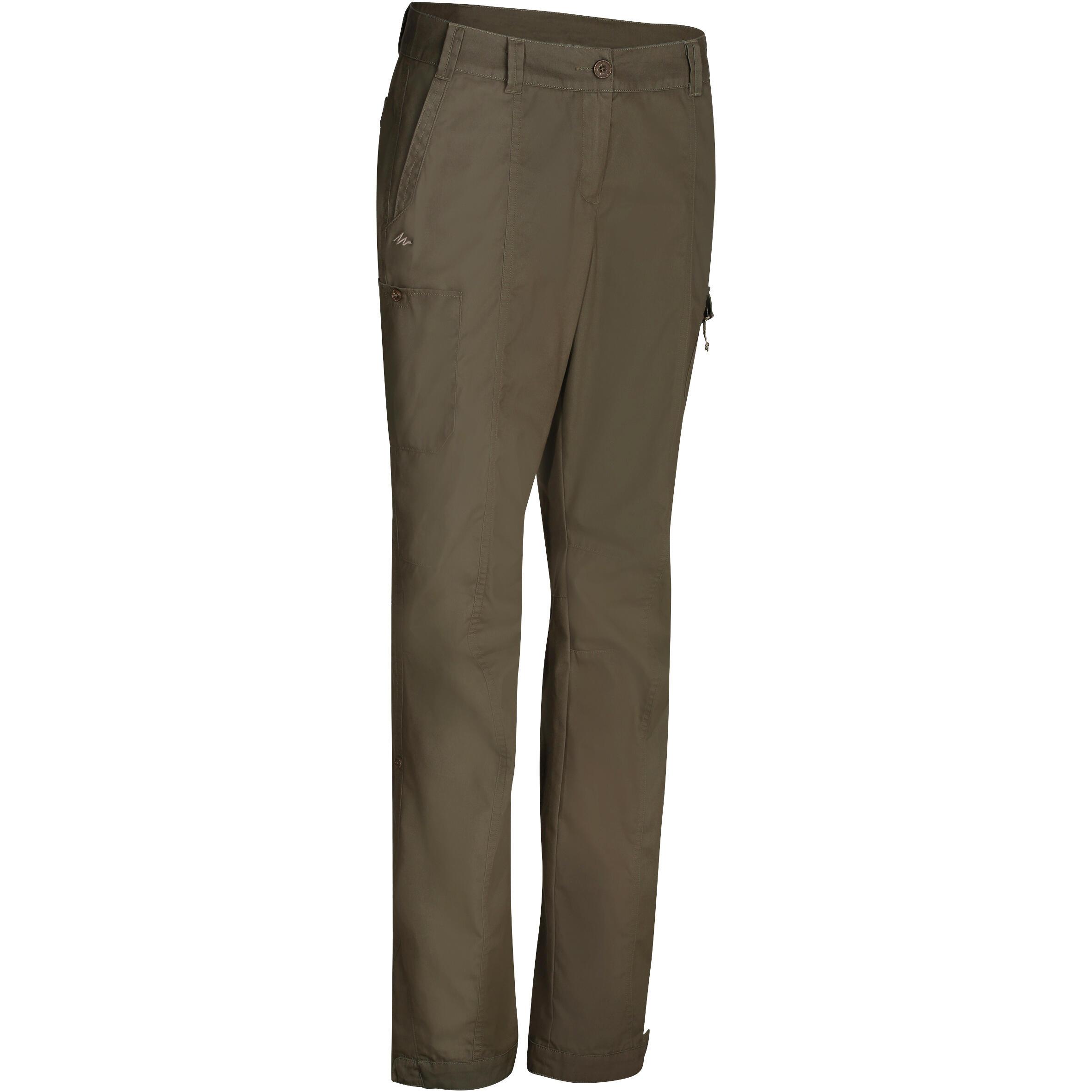 Pantalon VOYAGE 100 femme kaki