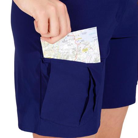 Women's Forclaz 100 Hiking Shorts - Blue