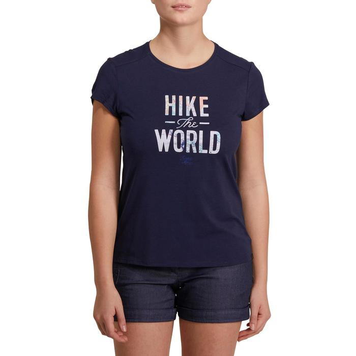 Wandershirt Naturwandern NH500 Damen dunkelblau