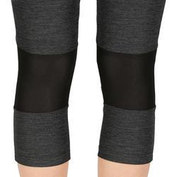 Women's fast hiking leggings FH500 Helium Mottled grey