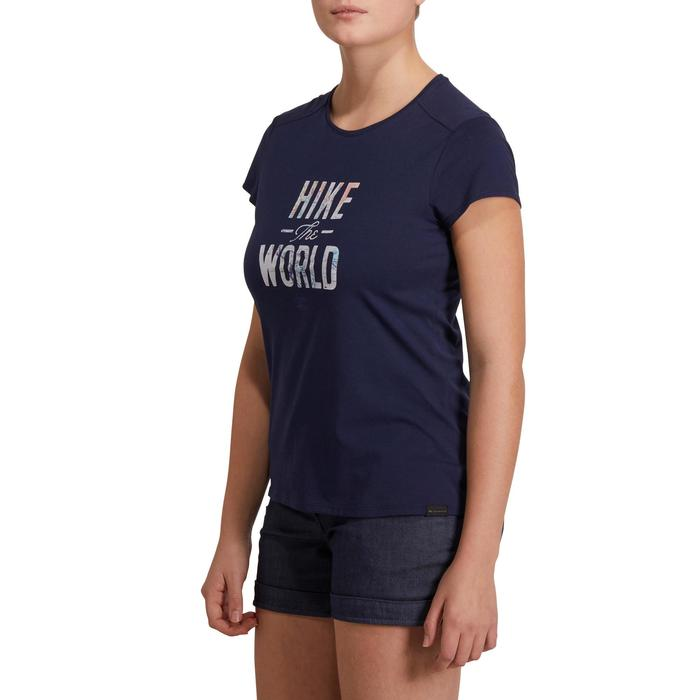 Wandelshirt voor dames NH500 marineblauw