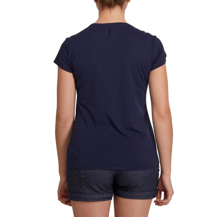 Camiseta senderismo en la naturaleza mujer NH500 azul marino