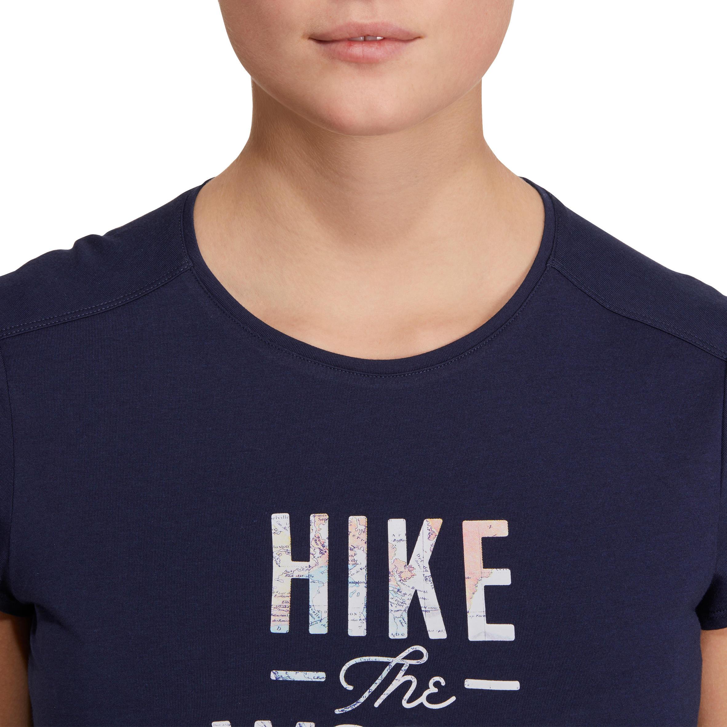 NH500 Women's Country Walking T-shirt - Navy