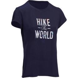 Tee shirt randonnée nature femme NH500 marine