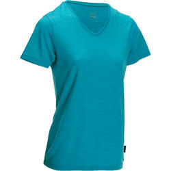 T-shirt met korte mouwen dames Trekking Techwool 155 wol dames