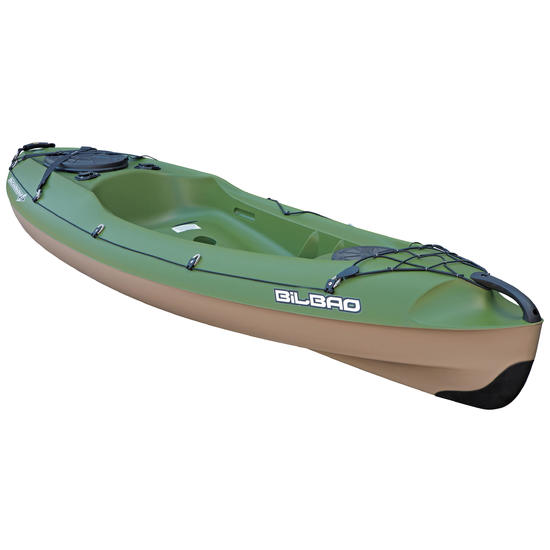 Hengelkajak Bilbao Fishing groen 1 persoon + RUGSTEUN - 1146647