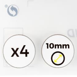 Set van 4 pomeransen diameter 13 mm voor poolkeu