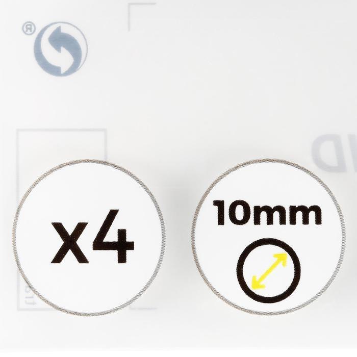 Set van 4 pomeransen van 10 mm voor snooker-/Engels biljartkeu