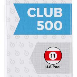 2-delige poolkeu met sluiting op 1/2 Club 500 wit