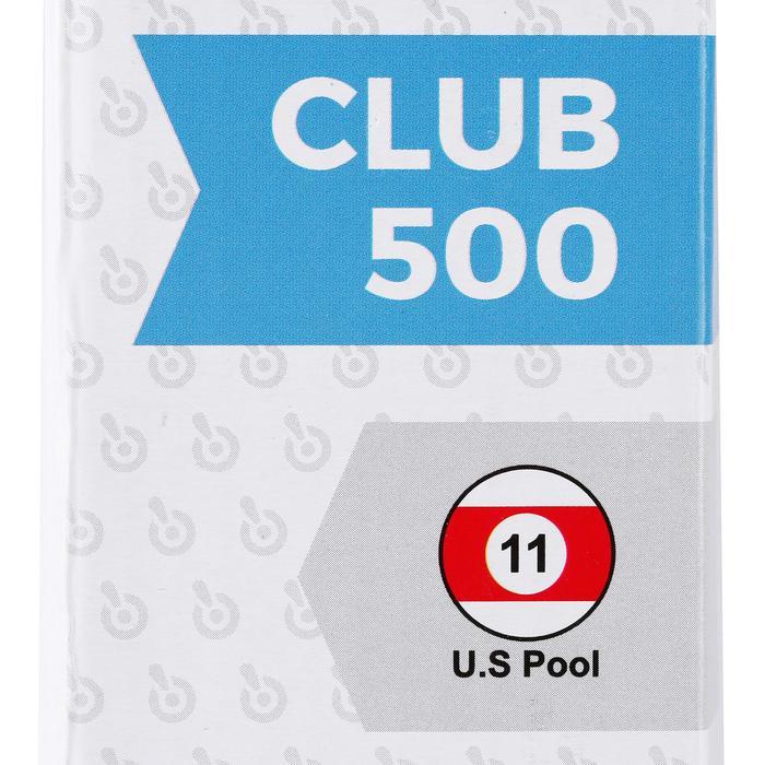 Taco de billar americano en 2 piezas con junta 1/2 Club 500 blanco