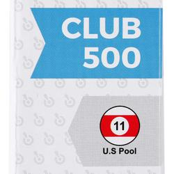 兩節式美式撞球桿Club 500,1/2段接合 - 黑色