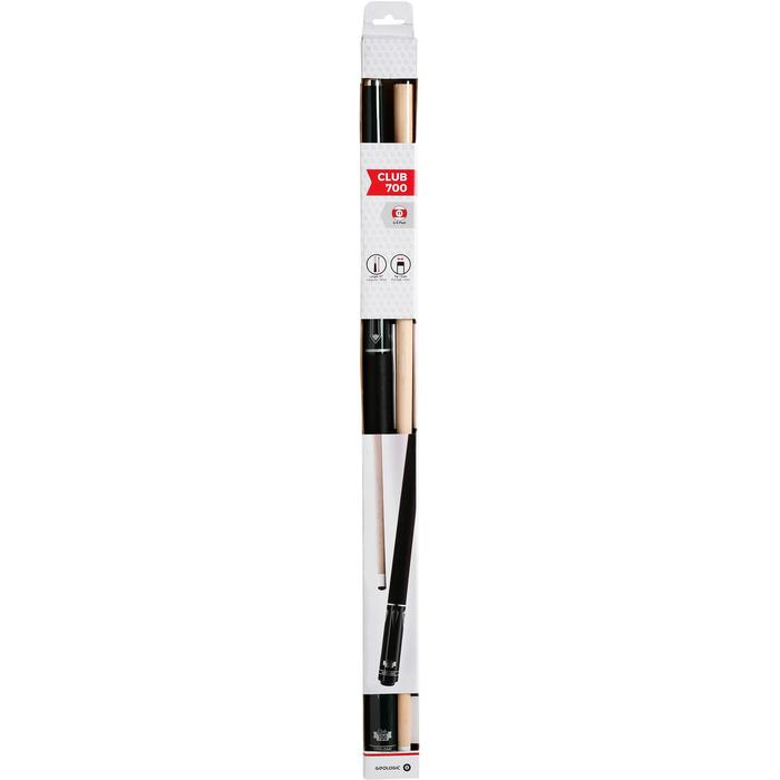 Club 700 American Pool Cue in 2 Parts, 1/2 Jointed - White