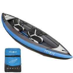 Kayak Canoa Hinchable De Travesía Itiwit 1/2 Plazas Azul