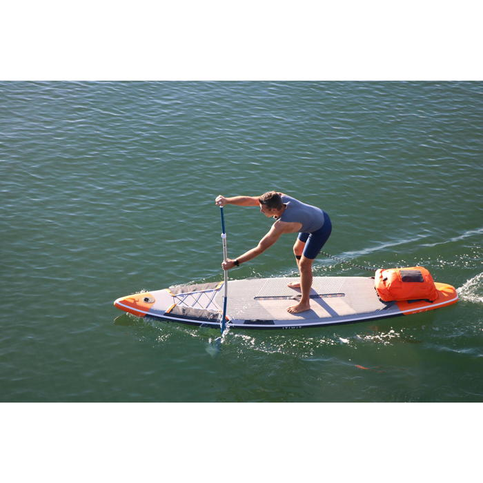 """STAND UP PADDLE GONFLABLE RANDONNEE COURSE 500 / 12'6-29"""" ORANGE - 1147208"""