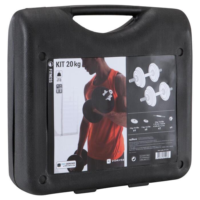 Kit haltères musculation Kit 20 kg - 1147418