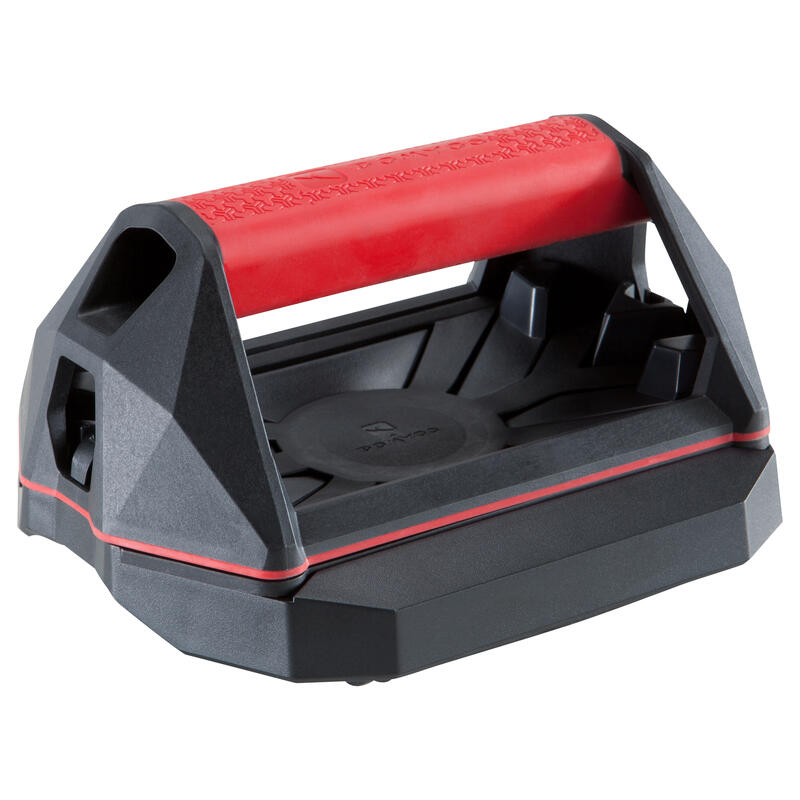 Versatile Cross Training Push-Up Wheel Grips - Red/Black