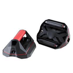 Poignées polyvalentes de cross training Push Up Wheels rouges et noires