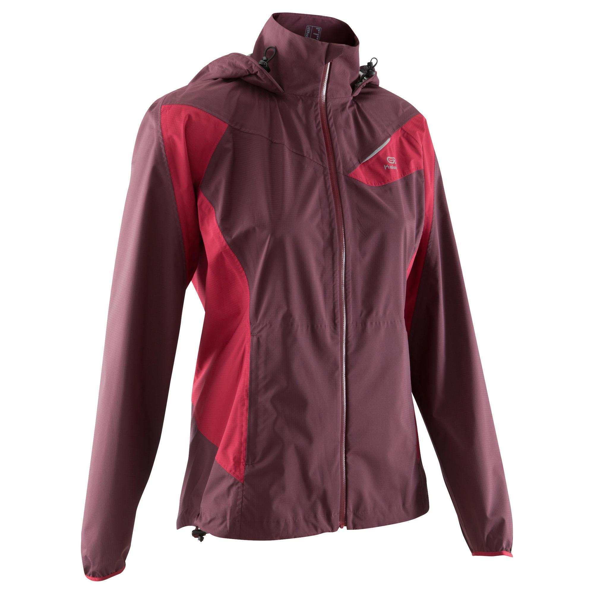 veste imperm able trail running femme bordeaux kalenji