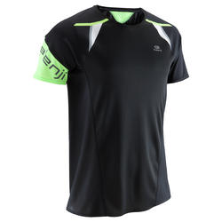 Kiprun Men's Running T-shirt Light - Black/Blue