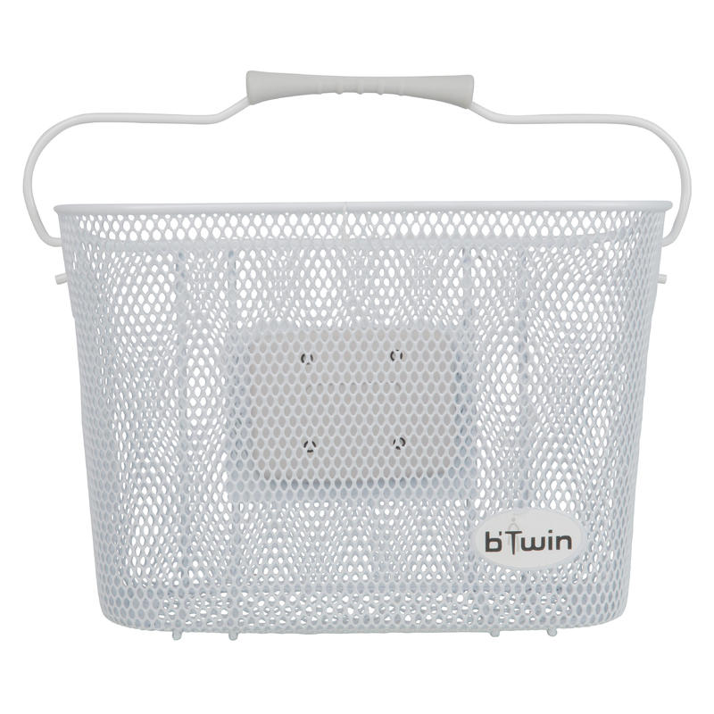 Metal Kids' Bike Basket - White