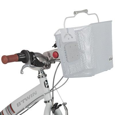 سلة دراجة معدنية للأطفال- أبيض