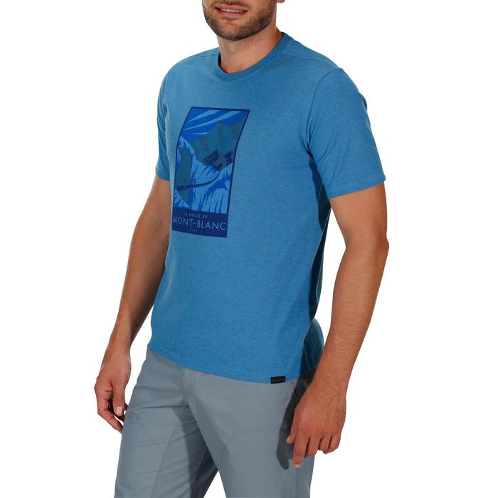Tee shirt randonnée nature homme NH500 chiné - 1147792